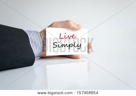 Live simply text concept isolated over white background