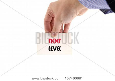 Next level text concept isolated over white background