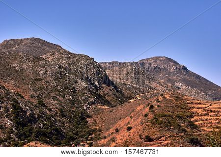 rocky summit of the White Mountains on the island of Crete
