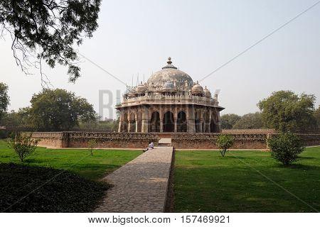 DELHI, INDIA - FEBRUARY 13 : Isa Khan tomb, Humayun's tomb complex, Delhi, India on February 13, 2016