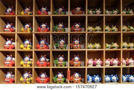 BEIJING - FEBRUARY 23: Beijing's X-creativity Soul Art Shop, souvenir shop in Nanluoguxiang hutong in Beijing, China, February 23, 2016.