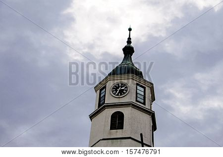 Old Austro Hungarian watch tower under the blue sky