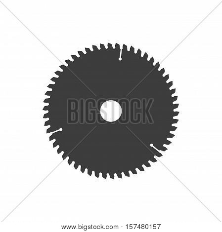 Circular saw disk. Vector object is isolated on white background