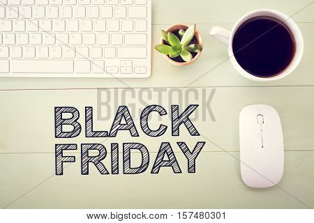 Black Friday Text With Workstation