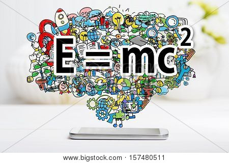 Mass Energy Equivalence Concept With Smartphone
