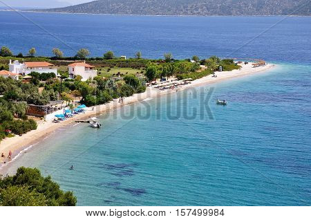 Agios Dimitrios beach in Alonissos island Sporades Greece