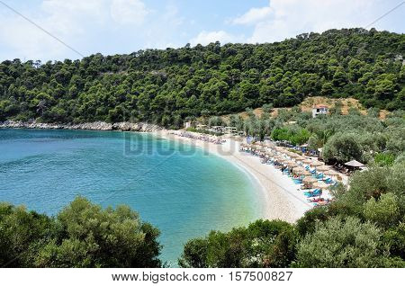 Leftis Gialos beach in greek island Alonissos