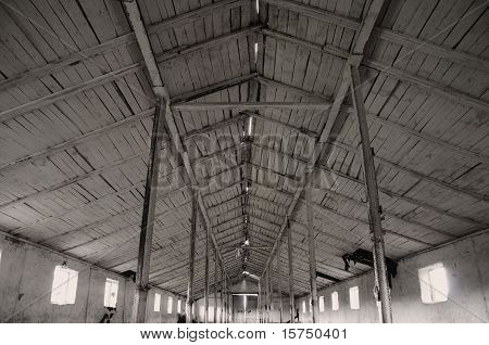 The old roofing