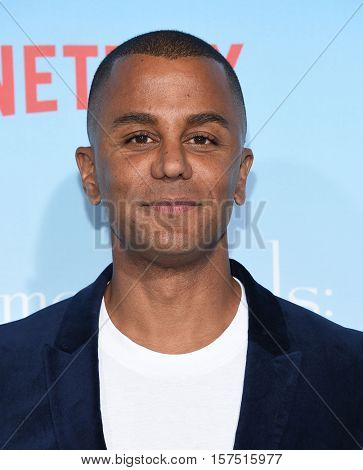 LOS ANGELES - NOV 18:  Yanic Truesdale arrives to the Netflix's 'Gilmore Girls: A Year In The Life' Premiere on November 18, 2016 in Westwood, CA