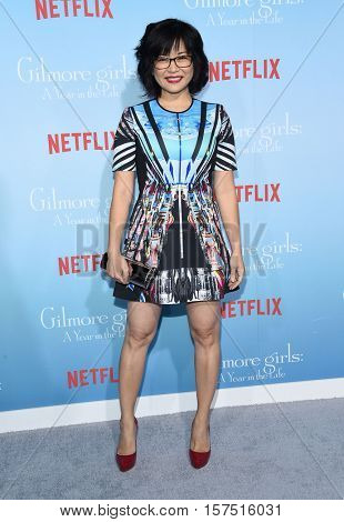 LOS ANGELES - NOV 18:  Keiko Agena arrives to the Netflix's 'Gilmore Girls: A Year In The Life' Premiere on November 18, 2016 in Westwood, CA