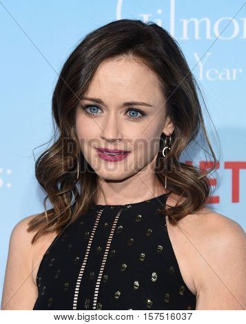 LOS ANGELES - NOV 18:  Alexis Bledel arrives to the Netflix's 'Gilmore Girls: A Year In The Life' Premiere on November 18, 2016 in Westwood, CA