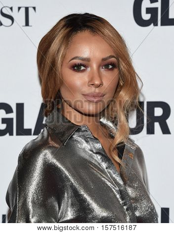 LOS ANGELES - NOV 14:  Kat Graham arrives to the Glamour Celebrates Women of the Year Awards 2016 on November 14, 2016 in Hollywood, CA
