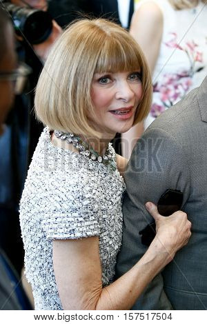 NEW YORK-MAY 5: Vogue Editor-in-Chief Anna Wintour at the ribbon cutting ceremony for the Anna Wintour Costume Center Grand Opening at the Metropolitan Museum of Art on May 5, 2014 in New York City.