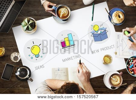 Ideas Team Success Marketing Quality Product Concept