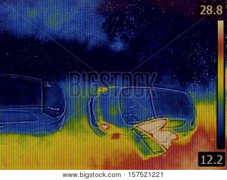 Thermal Imaging Surveillance from Parking Lot