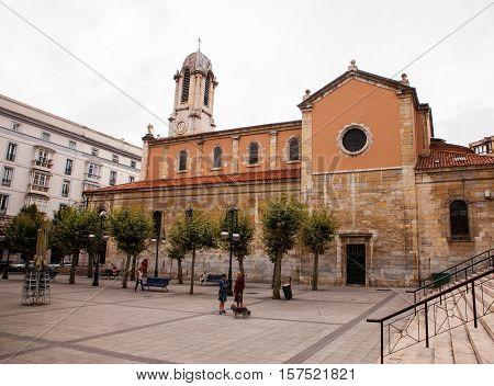 SANTANDER SPAIN - AUGUST 19: The church of Santa Lucia on August 19 2016