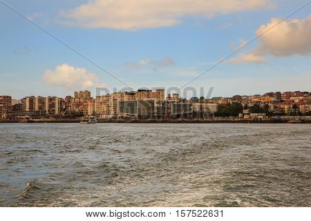 View of Santander from sea Cantabria. Spain