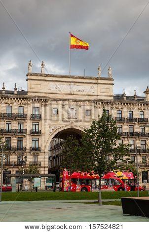 SANTANDER SPAIN - AUGUST 19: Bank of Santander facade on August 19 2016