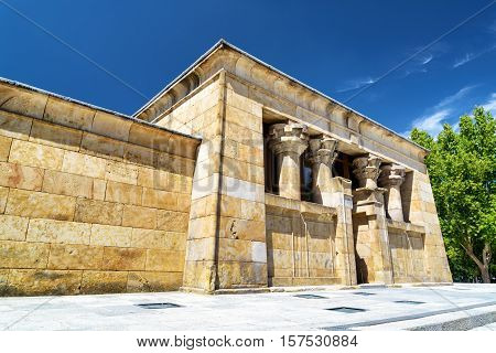 The Temple Of Debod, Ancient Egyptian Temple, In The Parque Del Oeste (western Park) In Madrid