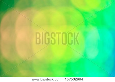 Green and yellow abstrack bokeh background shallow depth of field