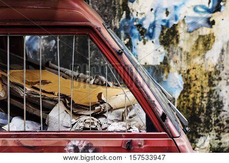 Demolition Junkyard Wasteland Trash Rusty Abstract Concept
