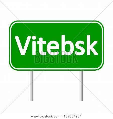 Vitebsk road sign isolated on white background.