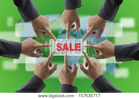 A diverse business teamwork On Sales for Retail Shopping Concept