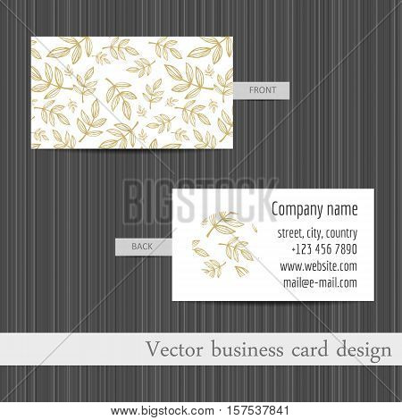 Vector set of business cards templates abstract background