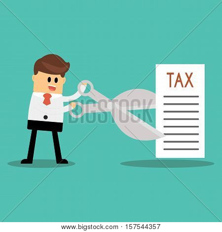 Tax Deduction . Business Tax Deduction Concept .
