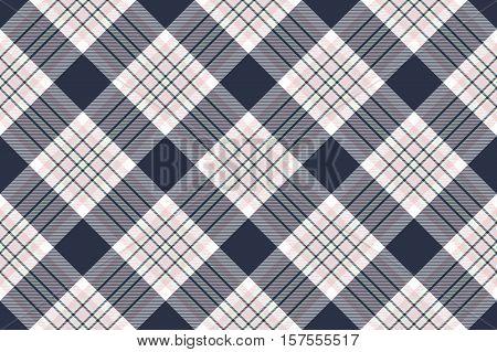 Check shirt diagonal seamless fabric texture. Vector illustration. Flat design. EPS10.