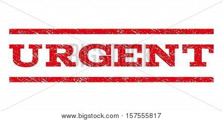 Urgent watermark stamp. Text tag between parallel lines with grunge design style. Rubber seal stamp with dirty texture. Vector red color ink imprint on a white background.