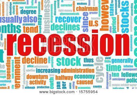 Recession Economic Concept Text Cloud Background