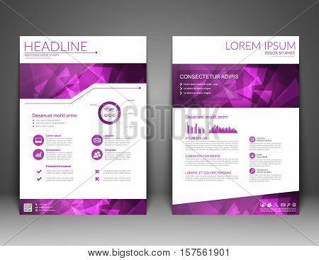 Brochure Flyer design, annual report, Business templates, brochure, magazine, flyer, booklet. Cover design template, A4 size. Vector