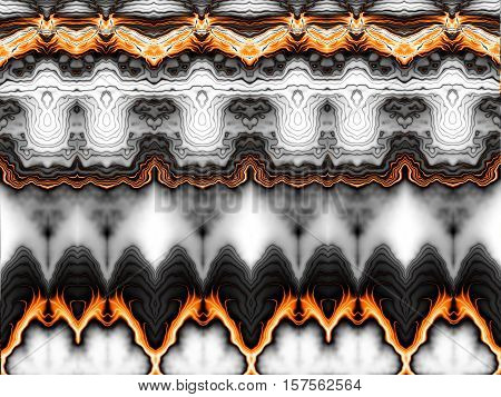 Horizontal abstract background. May be used as desktop background. Symmetry ornament in digital art style.