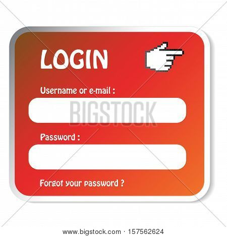 Vector login form on white background - illustration