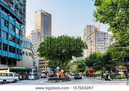 Macau - January 30, 2015: Streets Of Macau. Macau Is A Popular Tourist Attraction Of Asia And Leadin