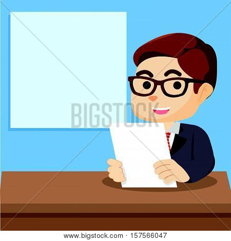 boy news anchor vector illustration design eps 10