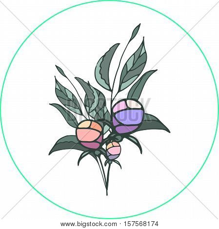 vector logo of flower with the inscription, perfect for business cards and flyers