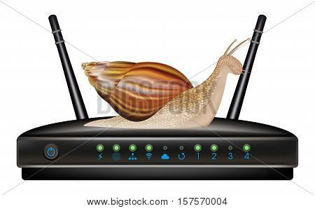 a real slow speed router with snail