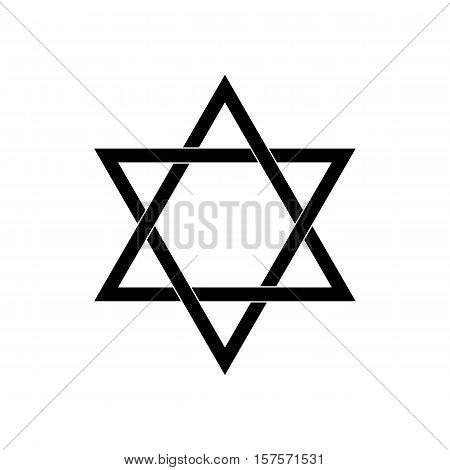 The David Star abstract vector design element