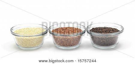 Yellow, Red, and Black Quinoa