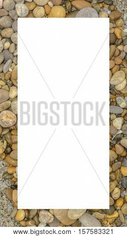 Macro From Abstract Background With Round Peeble Stones