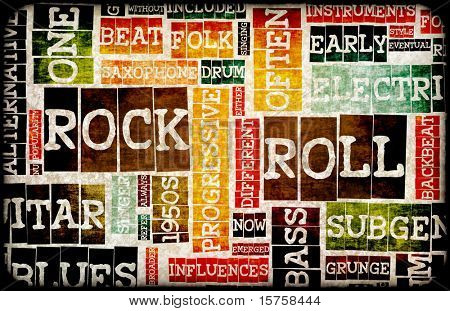 Rock and Roll Music Poster Art as Background poster