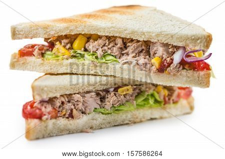 Tuna Sandwich (isolated On White)