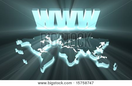 WWW World Wide Web Internet Online in 3d