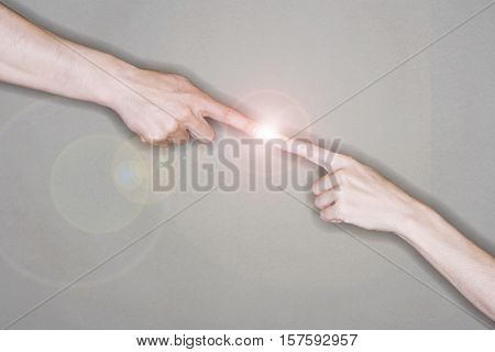 Fingers Touching Electricity