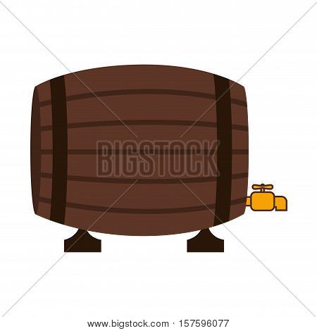 silhouette colorful with Liquor barrel vector illustration