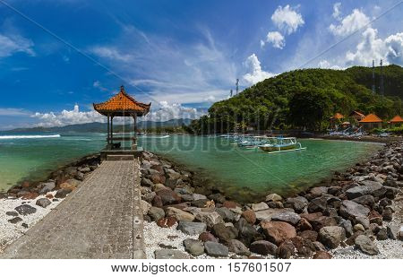 Candidasa Beach - Bali Island Indonesia - nature travel background