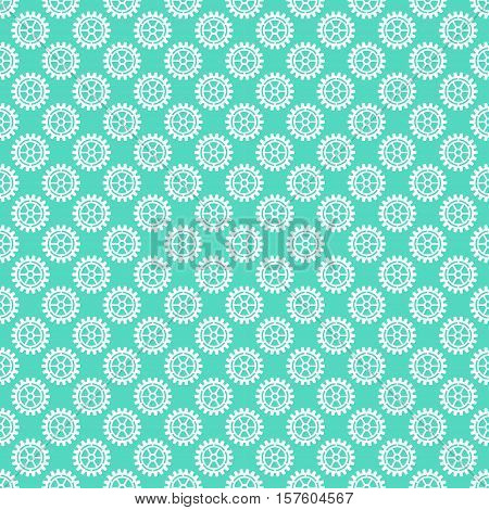 Vector gears icons seamless patterns machine wheel mechanism machinery mechanical, technology technical sign.