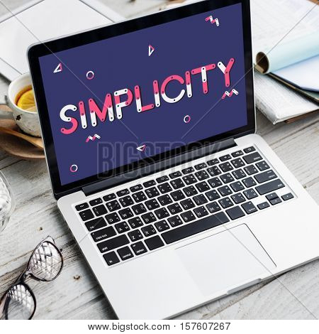 Laptop Technology Simplicity Graphic Concept